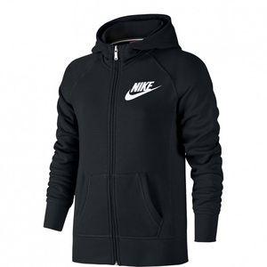 Nike Boys Black Fleece Zip Up Hoodie | SZ L